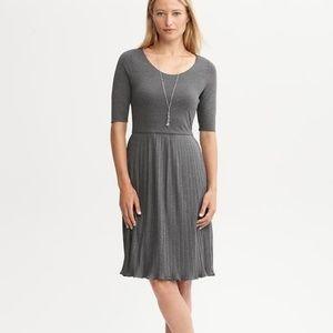 Banana Republic | Grey Jersey Pleated Dress 8